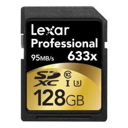 LEXAR 128GB 633X PRO SDHC UHS-1 CALSS 10