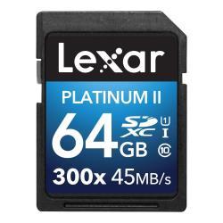 LEXAR 64GB SDXC 300X PREMIUM II C10 U1