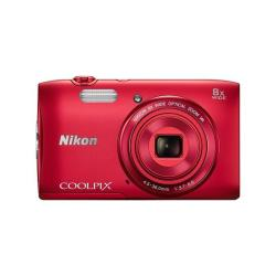 NIKON COOLPIX S3600 RED  ESTUCHE