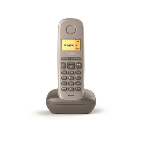 TELEFONO FIJO INALAMBRICO GIGASET A170 MARRON 50 NUMEROS AGENDA/ 10 TONOS