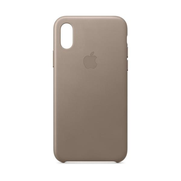IPHONE XS LEATHER TAUPE