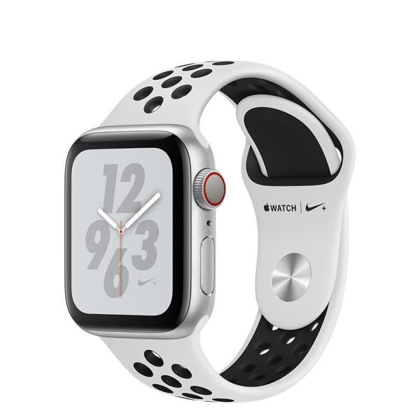 WATCH NIKE+ SERIES 4 GPS+CELL  CONS40MM SLVR ALUM PLAT/BLK NIKE BND IN