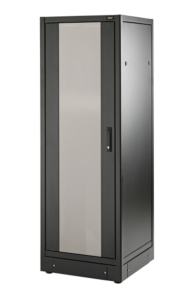 "Network 19"" 34U H1701xW800xD600 smoked glass front door, removable side and rear panels, with plinth H.100, colour"