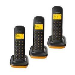 TELEFONO INALAMBRICO DECT D135 TRIO NEGRO/NARANJA (PRINCIPAL+2 SUPLETORIOS)