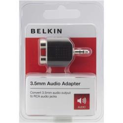 BELKIN AUDIO 3.5MM/2XRCA M/F PORTABLE BLK