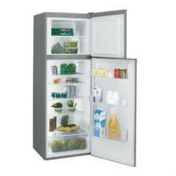 Candy CCDS 6172X - frigorífico/congelador - congelador superior - autónomo - acero inoxidable