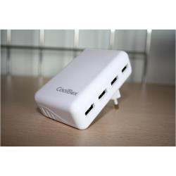 COOLBOX CARGADOR USB DE PARED COO-UX4W Novedad!!