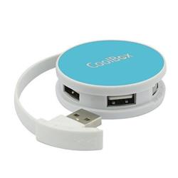 COOLBOX HUB  USB 4 USB2.0 SMART AZUL