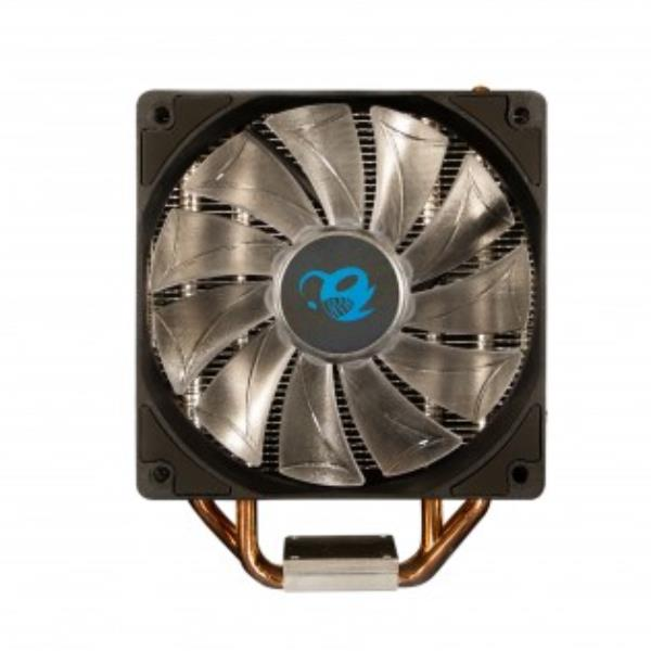 Ventilador disipador coolbox deep cyclone ii gaming. para intel y amd led azul