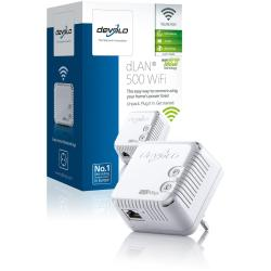 devolo dLAN 500 WiFi - puente - 802.11b/g/n - conectable en la pared
