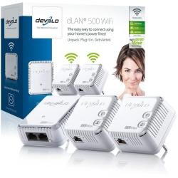 devolo dLAN 500 WiFi - Equipo de red - puente - 802.11b/g/n - conectable en la pared