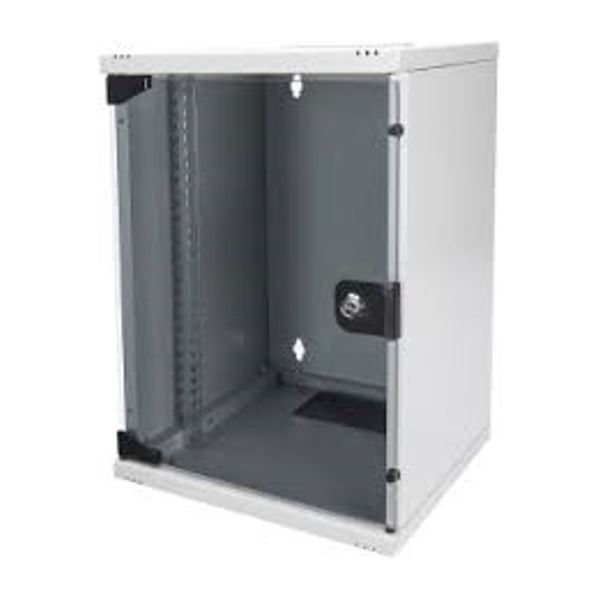 """254 mm 10"""" Wall Mounting Cabinet, 9U H464xW312xD300 mm, color grey (RAL 7035)"""