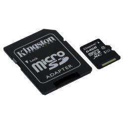 KINGSTON 64GB MICROSDXC C10 UHSI RC Y SD AD