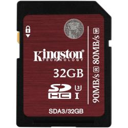 KINGSTON 32GB SDHC UHS-I SPEED CLASS 3 FLASH