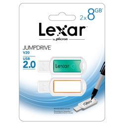 LEXAR USB 8GB JUMPDRIVE V20 2-PACK
