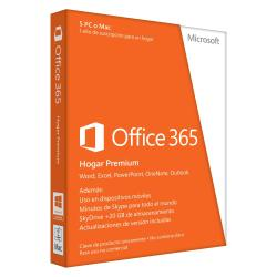MICROSOFT OFFICE 365 HOME PREMIUM 32-BIT/X64 SPANISH SUBSCR 1YR EUROZONE MEDIALESS