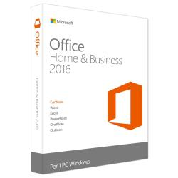 MICROSOFT OFFICE HOME AND BUSINESS 2016 WIN ENGLISH EUROZONE 1 LICENSE MEDIALESS
