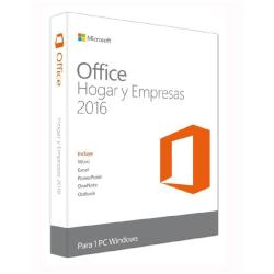 MICROSOFT OFFICE HOME AND BUSINESS 2016 WIN SPANISH EUROZONE 1 LICENSE MEDIALESS