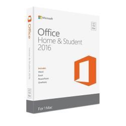 MICROSOFT OFFICE MAC HOME AND STUDENT 2016 SPANISH EUROZONE 1 LICENSE MEDIALESS