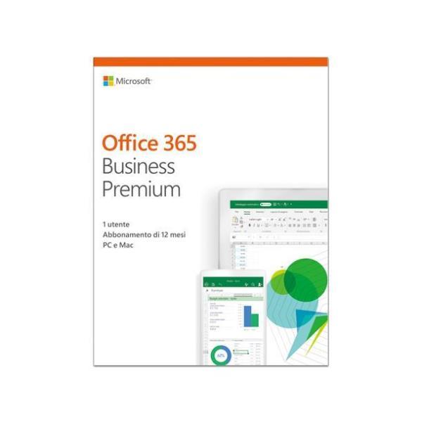 Microsoft Office 365 Business Premium - licencia de suscripción (1 año) - 1 persona All Languages 1 persona Al por menor nacional - ESD
