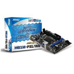 MSI H61M-P31/W8 LGA1150 UATX