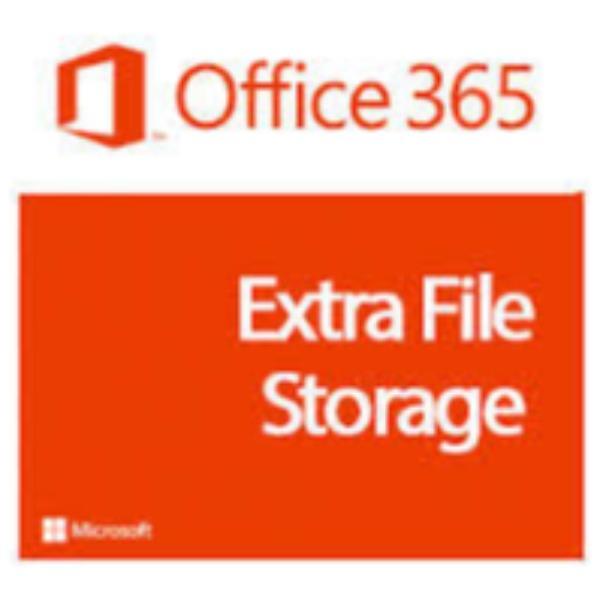 Microsoft Office 365 Extra File Storage Add-on - licencia de suscripción (1 mes) - 1 GB de capacidad