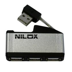 NILOX USB HUB 2.0 4 PUERTOS