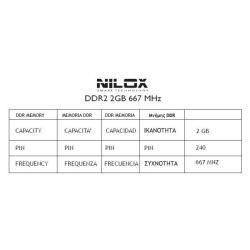 NILOX DDR-2 2GB 667MHZ DIMM PC-5300