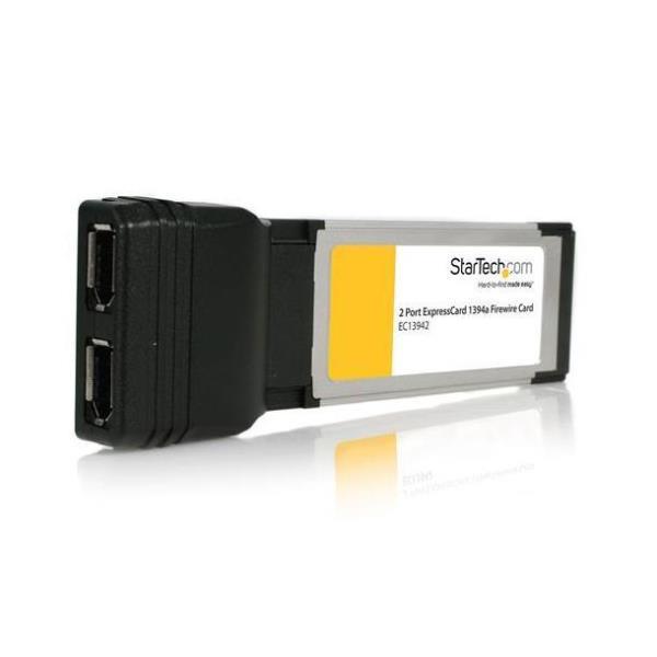 StarTech.com Adaptador Tarjeta FireWire 400 2 Puertos ExpressCard/34 34mm Chipset Texas Instruments - 2x FireWire 6 pines Hembra - 1394a - adaptador p