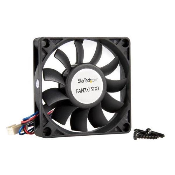StarTech.com Ventilador de Repuesto con Rodamiento de Bolas para Disipador de Procesador o Caja Chasis Ordenador - 70mmx15mm - TX3 ventilador para caj