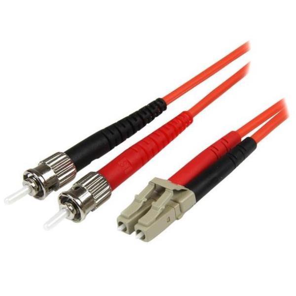 StarTech.com 5m Fiber Optic Cable - Multimode Duplex 50/125 - LSZH - LC/ST - OM2 - LC to ST Fiber Patch Cable - cable de interconexión - 5 m - naranja