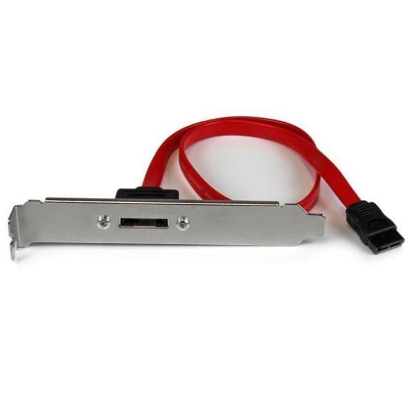 StarTech.com Cabezal Bracket Adaptador de 1 Puerto SATA a eSATA con Cable de 45cm para Placa Base - SATA interno a panel externo - 45.72 cm