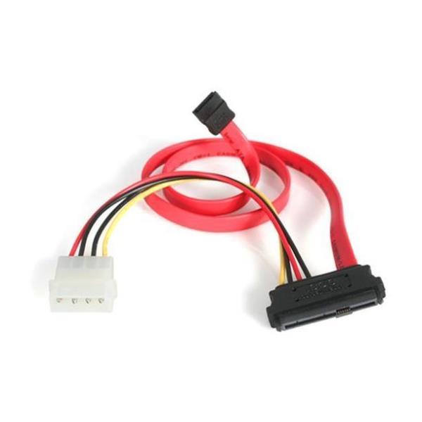 StarTech.com Adaptador Cable de 45cm Divisor SAS de 29 Pines SFF-8482 a Molex y SATA - 1x SATA - 1x Macho LP4 - 1x SAS - SFF8482 - cable ATA / SAS - 4