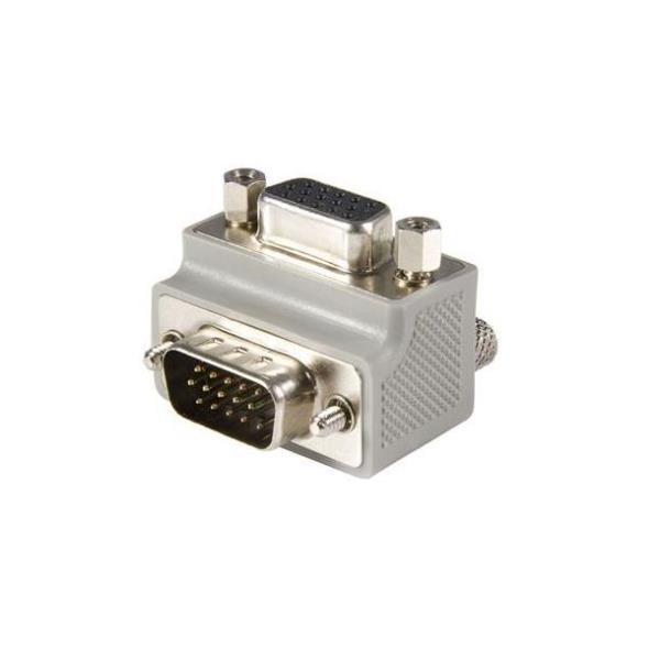 StarTech.com Adaptador Conversor de Cable VGA a VGA Acodado a la Derecha en Ángulo Tipo 1 Macho a Hembra - adaptador VGA