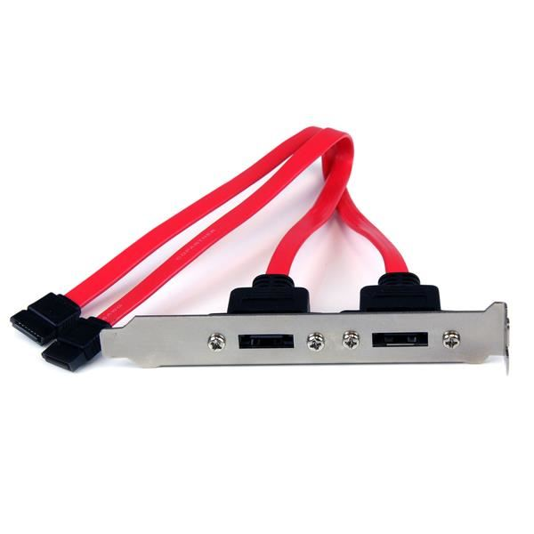 StarTech.com Cabezal Bracket de 2 Puertos SATA a eSATA para Placa Base - SATA interno a panel externo - 30 cm