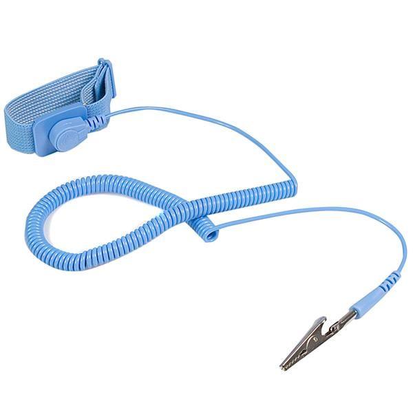 StarTech.com Pulsera Antiestatica con Cable a Tierra - Brazalete Antiestatico con Protección ESD cinta para la muñeca antiestática