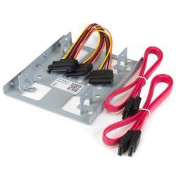 "StarTech.com Bracket Adaptador Bandeja de Montaje 2 Unidades de Disco Duro HDD de 2,5"" a Bahía de 3,5 Pulgadas - adaptador de compartimento para almac"