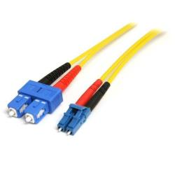 StarTech.com 1m Fiber Optic Cable - Single-Mode Duplex 9/125 - LSZH - LC/SC - OS1 - LC to SC Fiber Patch Cable (SMFIBLCSC1) - cable de red - 1 m