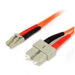StarTech.com 1m Fiber Optic Cable - Multimode Duplex 62.5/125 - LSZH - LC/SC - OM1 - LC to SC Fiber Patch Cable (FIBLCSC1) - cable de red - 1 m