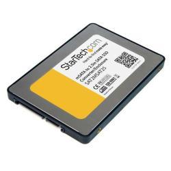 StarTech.com Caja Adaptadora  SATA de 2,5 Pulgadas para Unidad SSD mSATA - caja de almacenamiento - SATA