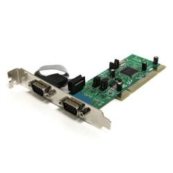 StarTech.com Tarjeta Adaptadora PCI de 2 Puertos Serie DB9 UART 161050 Serial RS422 485 - 2x DB9 Macho - adaptador serie