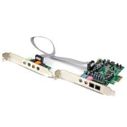 StarTech.com Tarjeta de sonido PCI Express con sonido envolvente de 7.1 canales 24bit 192 kHz - SPDIF Multicanal - tarjeta de sonido