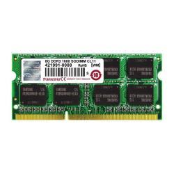 TRANSCEND 8GB DDR3 1600 SO-DIMM 2RX8