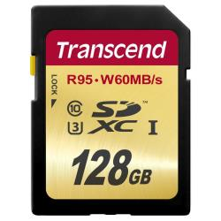 TRANSCEND 128GB SDXC UHS-I U3 CARD