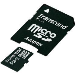 TRANSCEND MICRO SD 8GB CLASE 4 ADAPTADOR