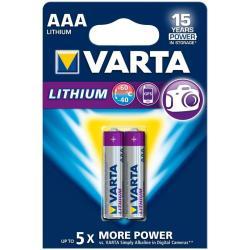 VARTA BLX2 AAA PROFESSIONAL LITHIUM 1 5V