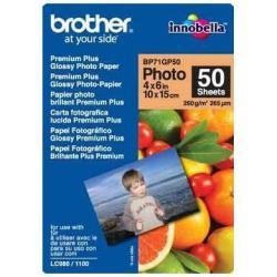 Brother BP - papel fotográfico brillante - 50 hoja(s) - 100 x 150 mm