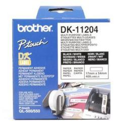 Brother DK-11204 - etiquetas para usos múltiples - 400 etiqueta(s) - 17 x 54 mm