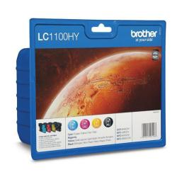 BROTHER TINTAS LC1100HYVALBP PACK 4 COL AC