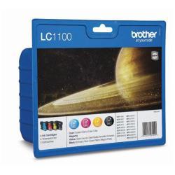 Brother LC1100 - paquete de 4 - negro, amarillo, cián, magenta - original - cartucho de tinta